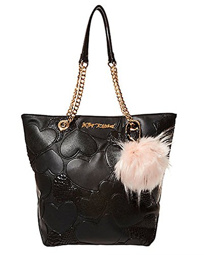South Shoulder Tote (Betsey Johnson Sweet Hearts North South Tote (Black))