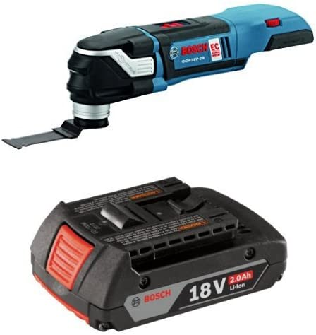 Bosch GOP18V-28N Bare Tool 18V EC Brushless StarlockPlus Oscillating Multi-Tool with 2.0 AH battery