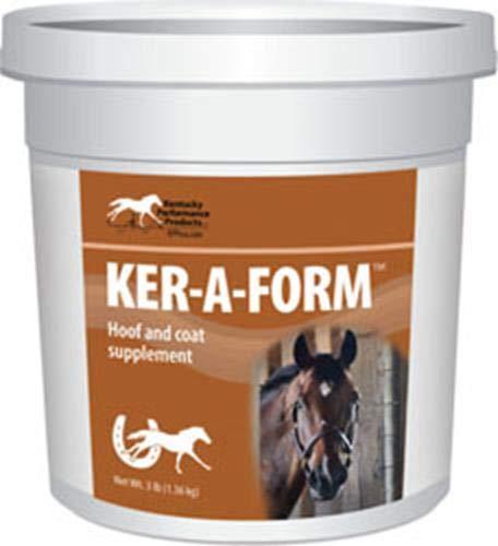 Kentucky Performance Prod 044045 Ker-A Form Coat & Hoof Supplement for Horses, 3 lb by Kentucky Performance Prod