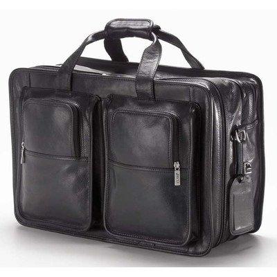 (Clava Tuscan Leather Companion Flight Bag - Tuscan Black)