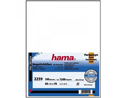 Hama Archival Negative Glassine Sheets Sleeves for 120 format 60mm 6x6 x 6x7 6x8 6x9 Films - 100pcs