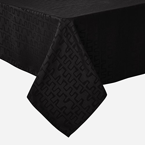 Print Proof Sheet - Deconovo Decorative Jacquard Tablecloth Wrinkle and Water Resistant Spill-Proof Tablecloths Bar Graph Print for Rectangular Tables 60 x 120 inch Black