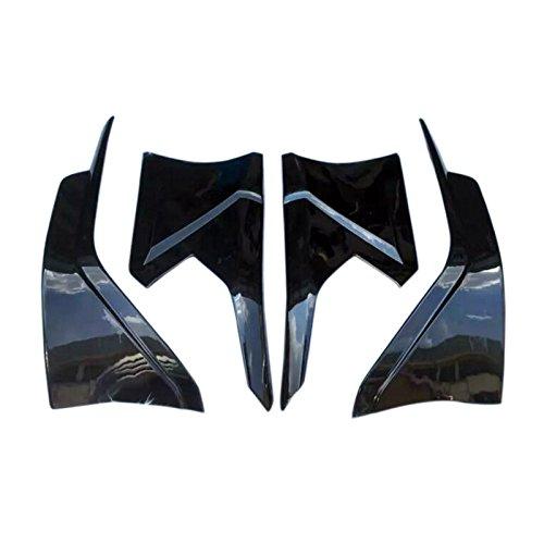 HIGH FLYING 4pcs ABS Plastic Front&rear Lips Bottom Bumper Diffuser Protector For Honda Civic 4dr Sedan 2016 2017 2018 (BLACK)