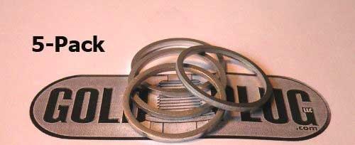 25mm Aluminum Crush Washer SW-25 - 5-Pack GoldPlug