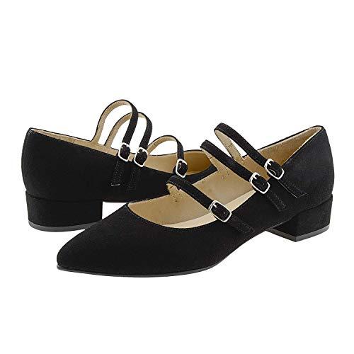 Piel Merceditas Piel Negro Zapatos Negro Merceditas Zapatos Piel Zapatos Merceditas IpU8F