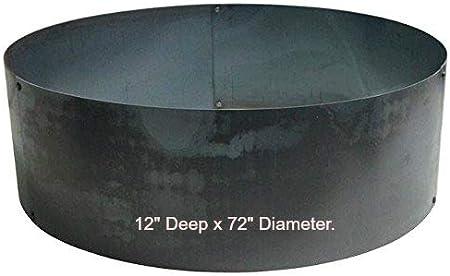 Jur/_Global 46 Diameter Steel Fire Pit Liner Ring Heavy Duty DIY In-Ground Outdoor