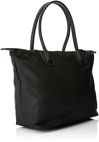 Nylon para Bolso Mujer x T x L cm Shopper M Negro 4 Cortefiel W 31x14x45 Black H xw0Yqp0
