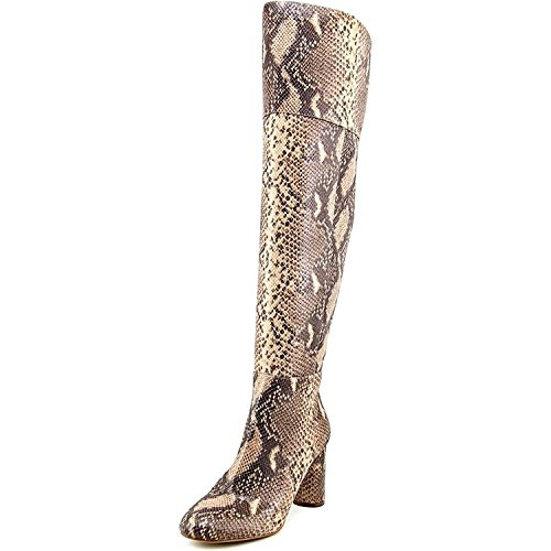 INC International Concepts Womens Tyliee Leather Almond Toe, Snake Tan, Size 7.0 by INC International Concepts
