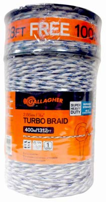 Gallagher North America G62148 7/64x1312 Turbo Braid - Quantity 1 by Gallagher North America