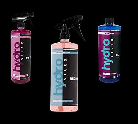 HydroSilex Complete Car Detailing Kit Bundle, Rewind, Recharge, Silica Soap (3 Items Included) (16 oz Bottles)