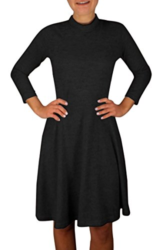 Buy belted black sweater dress - 4