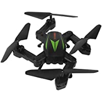Owill F12W 2.4G 6-Axis Altitude Hold 2.0M HD Camera WIFI FPV RC Quadcopter Drone Selfie Foldable Helicopter (Black B)