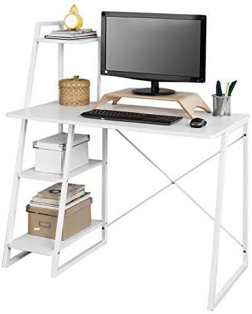 SoBuy® fwt29-w, Home mesa de oficina escritorio mesa de ordenador ...