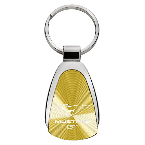 Upgrade Your Auto Ford Mustang GT on Gold Teardrop Keychain - Officially Licensed