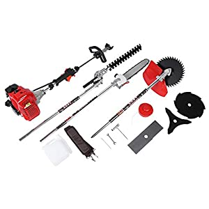 Hedge Trimmer, 6-in-1 Electric Hedge Trimmer Kit 52CC Folding Detachable Lawn Mower Set Pole Saw for Mowing/Sawing/Hedge…