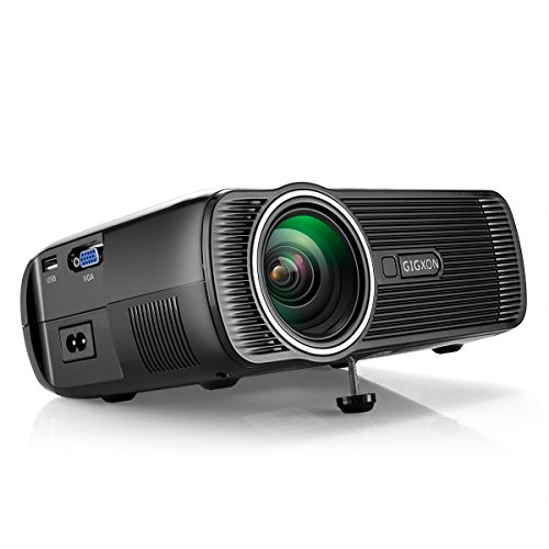 GIGXON 1000 Lumens Home Theater Projector 1080P HD for Mo...