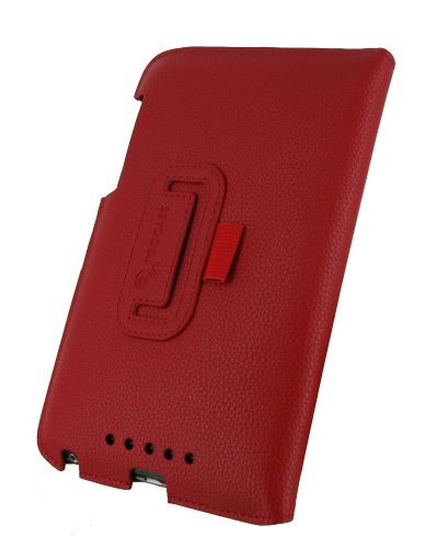 rooCASE Ultra-Slim (Red) Vegan Leather Folio Case for Google Nexus 7 Tablet (Built-in sleep / wake feature) Photo #4