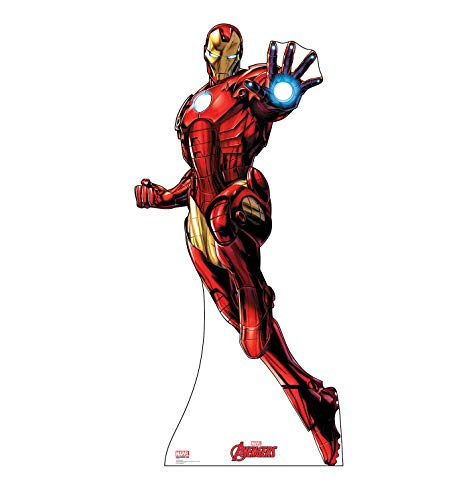 Advanced Graphics Iron Man Life Size Cardboard Cutout Standup - Marvel's Avengers Animated -