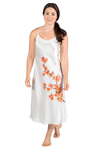 TexereSilk Women's Silk Nightgown Robe Set (Natural White, X-Small) Popular Gifts for Women WS0601-NWH-XS by TexereSilk (Image #3)