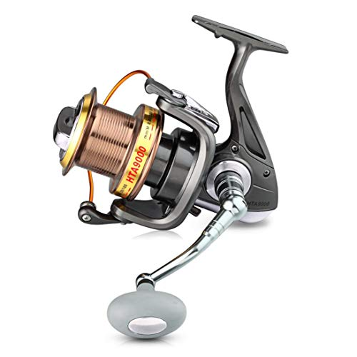 V2AMZ - 9000 Series 12+1BB 4.6:1 Full Metal CNC Rocker Arms Fishing Reel Sea Fishing Long S Type Line Wheel for Reservoir Pond River