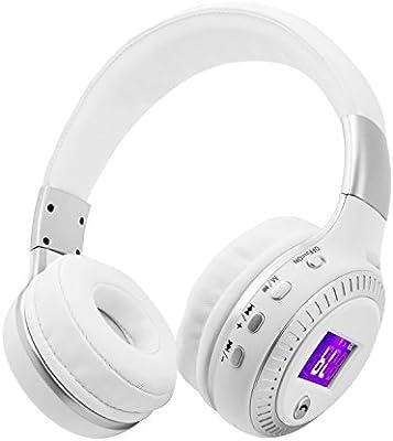 ... LED plegable auriculares inalámbricos HiFi estéreo manos libres con micrófono apoyo TF tarjeta de radio FM para iPhone 8 7 Samsung/ordenador portátil/PC