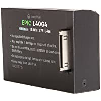 GoPro Hero 4 Extended Battery Pack 4000mAh (Limefuel Epic L40G4) Includes 2 Extended Backdoor Housings up to 40 and 60 Meters