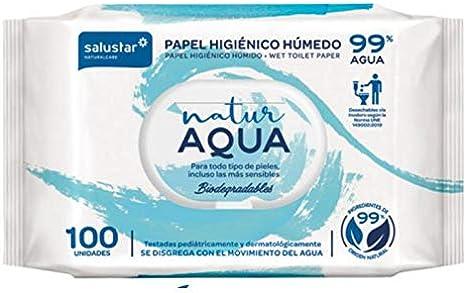 Papel higiénico húmedo Natur Aqua 100 unidades: Amazon.es: Bebé