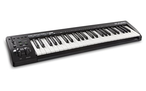 M-Audio Keystation 49 MK3 | Compact Semi-Weighted 49-Key USB-Powered MIDI Keyboard Controller