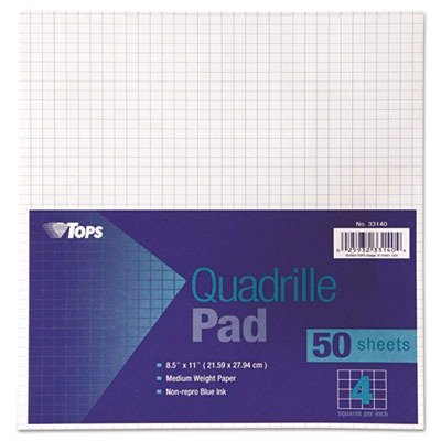 TOP33140 - Tops Quadrille Pads by TOPS