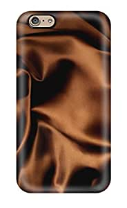 Premium Protection Chocolate Satin Fabric Case Cover For Iphone 6- Retail Packaging