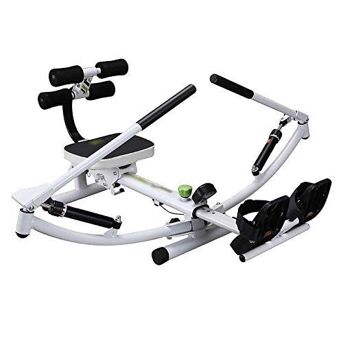 ZJZ Roeienmachine Silent Folding Indoor Rowing Machine,12-speed Weerstand Aanpassing, Cardio Fitness Apparatuur me Gym