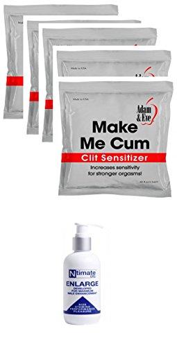 Evolved Novelties Enlarge Male Enhancement Cream 5.5oz with 5 foil packs of Make Me Cum Sensitizers by Evolved Novelties