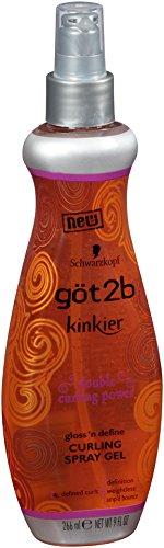 got2b Kinkier Curling Spray Gel-9 oz