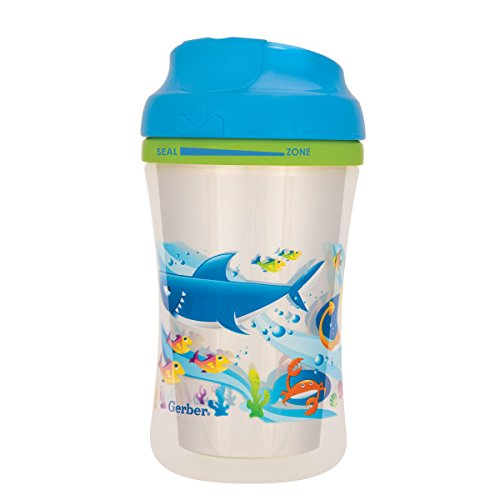 Gerber Graduates Advance Developmental Insulated Cup Like Rim Sippy Cup in Boy Patterns, 9-Ounce ( 4 count )
