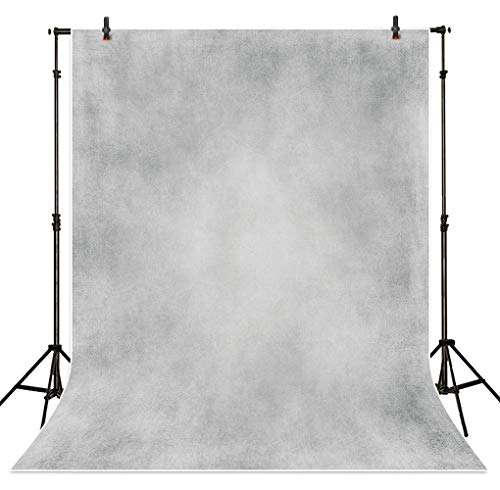 Allenjoy 5X7ft Light Grey Abstract Texture Printed Backdrop Old Master Portraits Photography Wrinkle Free Vintage Shooting Background for Head Shots Photo Studio Booth Props