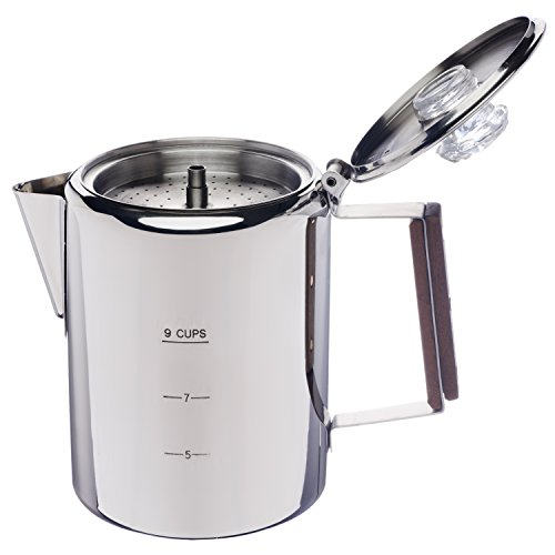 "Coletti ""Bozeman"" Percolator Coffee Pot - 9 CUP Stainless Steel"