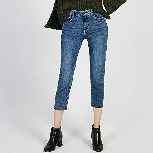 MVGUIHZPO Jeans Femme Hohe Taille elastische Jeans, Neue Frauen Jeans, Kleine Hosen, Sieben Punkte, hohe Taille, elastische Frauen. XL