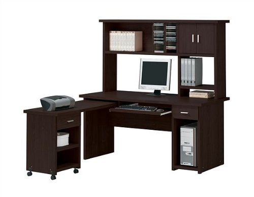 ACME Espresso Finish Home Office Computer Desk with Hutch