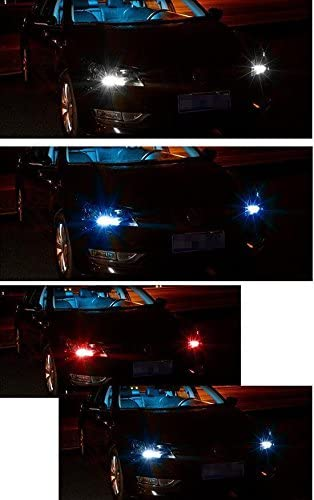 x xotic tech Remote Control T10 5050 LED RGB Multi-Color Interior Wedge Lamp Parking Side-Marker Lights