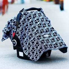 Carseat Canopy Baby Infant Car Seat Cover W Attachment Straps And Minky Fabric Knott