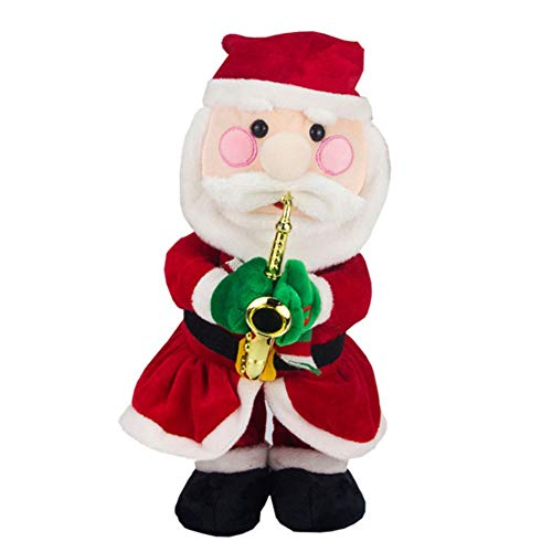 (Balai Twisted Wiggle Hip Twerking Christmas Santa Claus Singing Dancing Electric Plush Toy Musical Hat Elk Snowman Reindeer Music Doll Stuffed Animated Novelty Gift Decor for Kids Childrens)