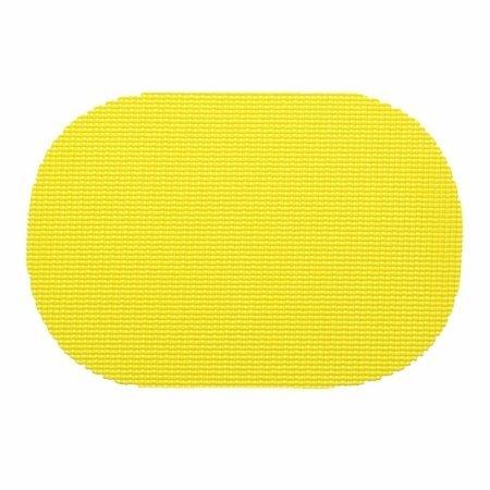 Kraftware 11636フィッシュネットオーバルプレースマットDzを。新しいイエロー  New Yellow Yellows B005HOOMZS