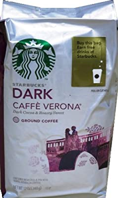Starbucks Caffe Verona Ground Coffee Dark by Starbucks