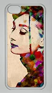 Audrey Hepburn Custom PC Transparent Case for iPhone 5C by LZHCASE