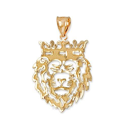 LA BLINGZ 14K Yellow Gold Lion King DC Charm Pendant (Small-1.25