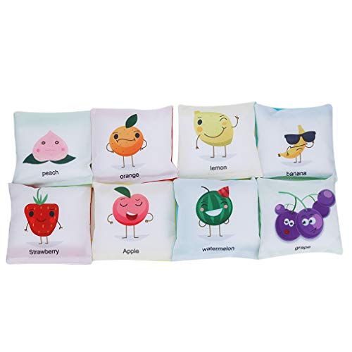 - Bean Bag Toss Game Gift, 8pcs Bean Bags Fun Sports Game Set Filled Bean Carnival Toy with Cartoon Animal Alphabet for Indoor/Outdoor (Multicolor)