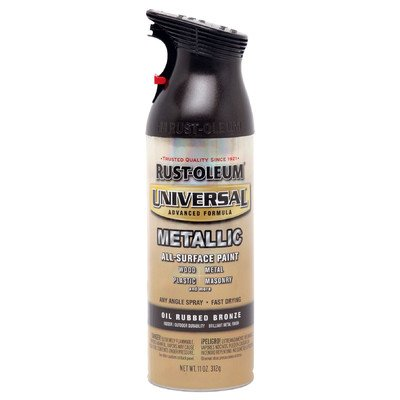 12 Oz Oil Rubbed Bronze Metallic Universal All Surface Spray Paint [Set of 6]