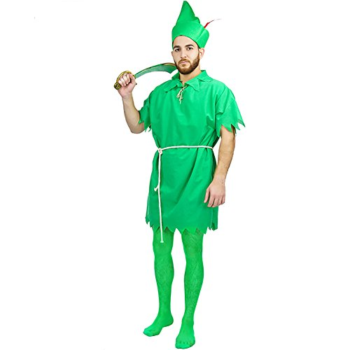 Carnival Peter Pan Party Costumes (One Size, Men Green) (Mens Carnival Costumes)