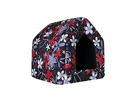 Perros cueva Perros Casa Cama Para Perros Caseta perro cesta Crazy Leopard (S: 38 x 38 x 38 cm): Amazon.es: Productos para mascotas