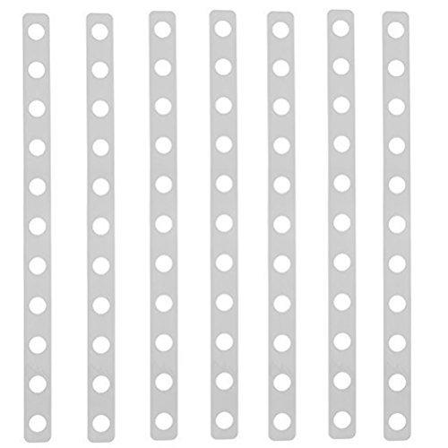 (HUELE 25PCS Plastic Display Hanger Strips, Plastic Clip Strip Displays Stable Hanger Connector)